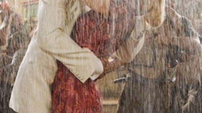 Os melhores beijos na chuva