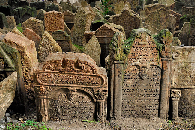 Jewish Cemetery in Prague (Czech Republic)