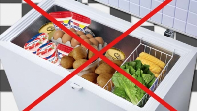 Livsmedel som inte kan frysas