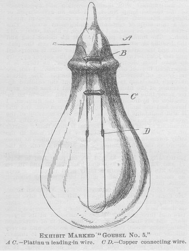 Лампа накаливания-Генрих Гебель (1854)