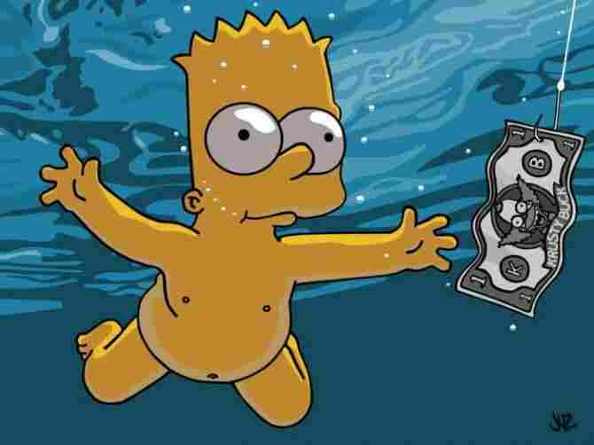 """Bart Simpson als Cover von """"Nevermind"""" von Nirvana"""