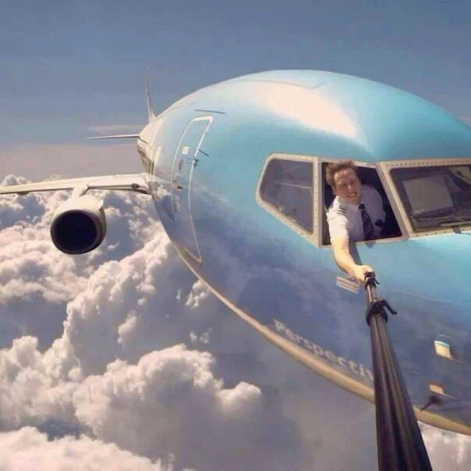 El selfie aéreo más extremo