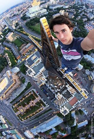 Extrem selfie