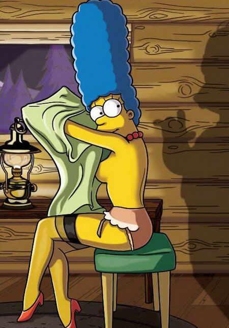 Marge se vestindo
