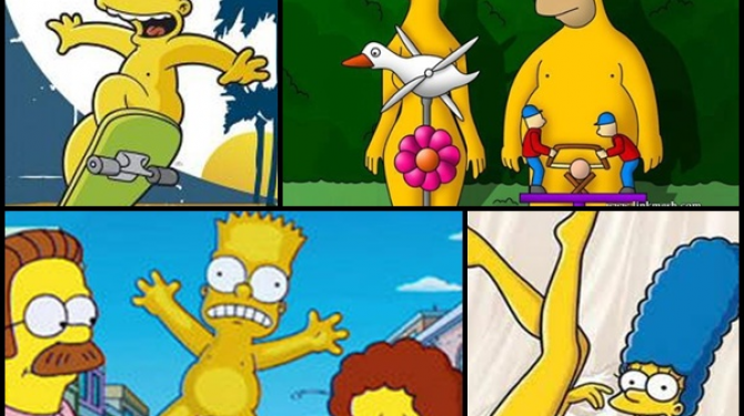 Os Simpsons: os nus mais criativos