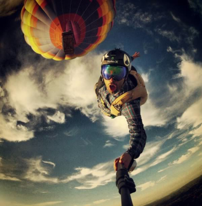 Selfie desde el aire