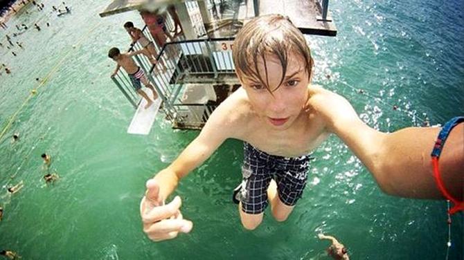 Selfie desde la piscina