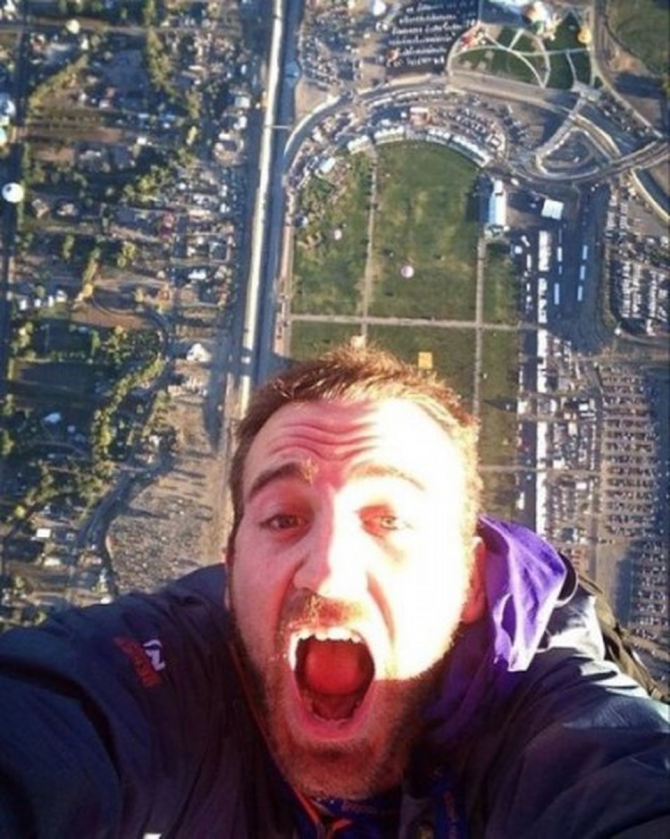 Selfie från ovan