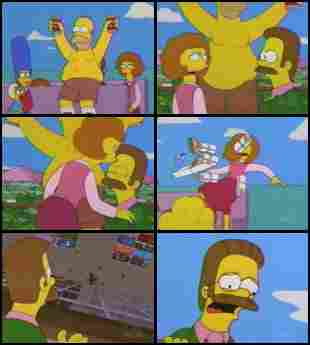 Maude Flanders in `` The Simpsons ''
