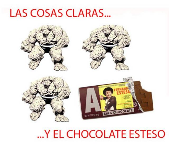 Clear things and Esteso chocolate