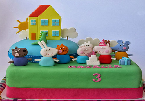 Peppa Pig and his friends