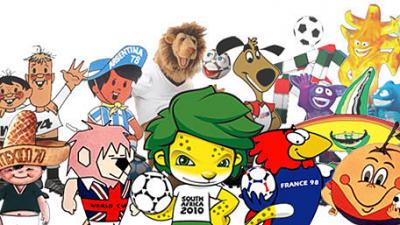 Les mascottes de la coupe du monde les plus connues