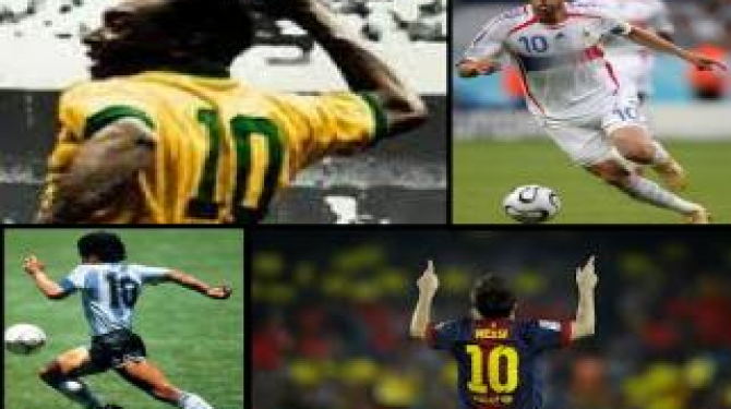 The best 10 numbers in football history