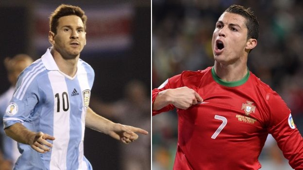 Messi and Cristiano, Argentina and Portugal