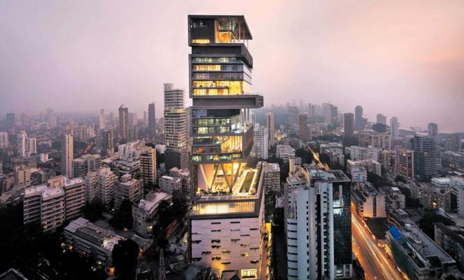 Antilla, Mumbai (India): AS $ 1 bilion