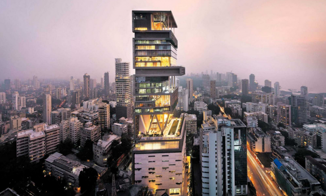 Antilla, Mumbai (India): US $ 1 billion