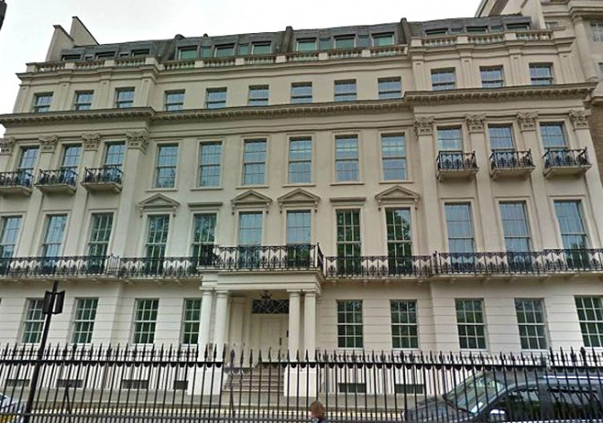 Hariri's London Mansion, London (England): US $ 484 million