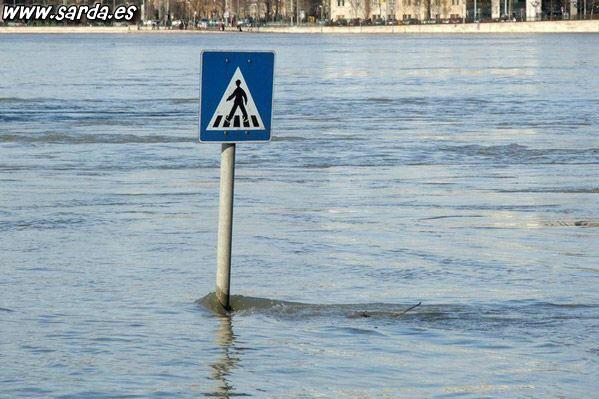Пешеходный переход гуляет по воде?