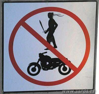 Запрещено прохождение агрессивных байкеров?