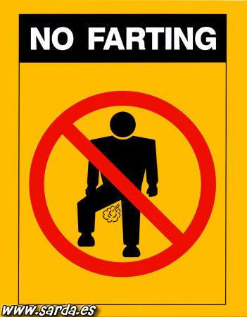 Forbidden to fart?