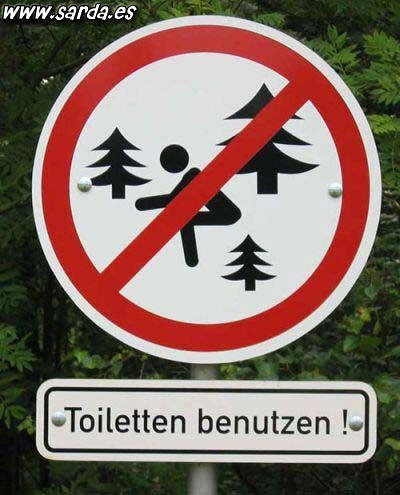 Forbidden to sit among the trees!