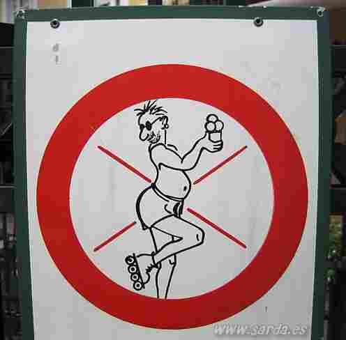 Forbidden to skate to the ugly. o Do not mariconadas?