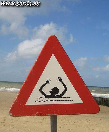 If you drown make signs with your arms!