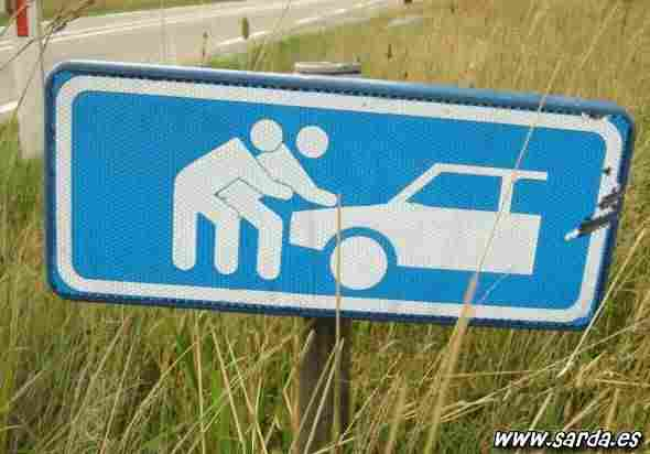 Not doing weird things or not pushing the car in a group?