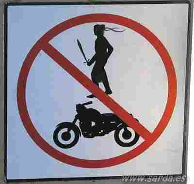 Prohibited the passage of aggressive bikers?