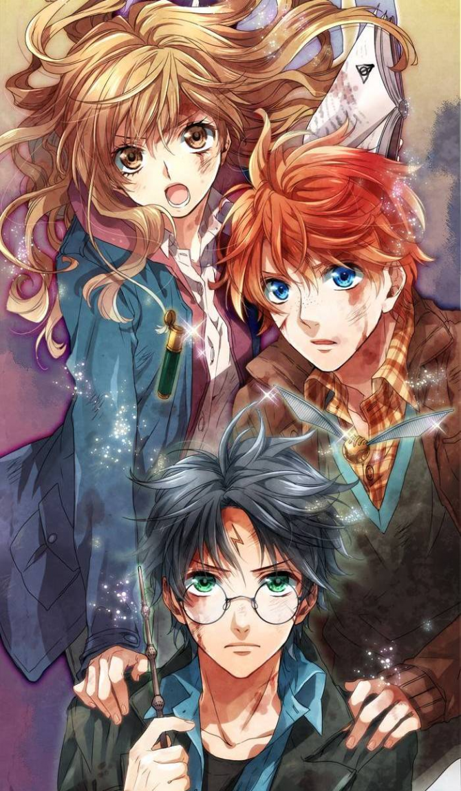 ~ Harry, Ron e Hermione ~