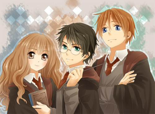 ~ Hermione, Harry and Ron ~
