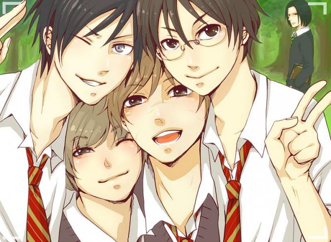 Sirius, Wormtail, Remus and James ~
