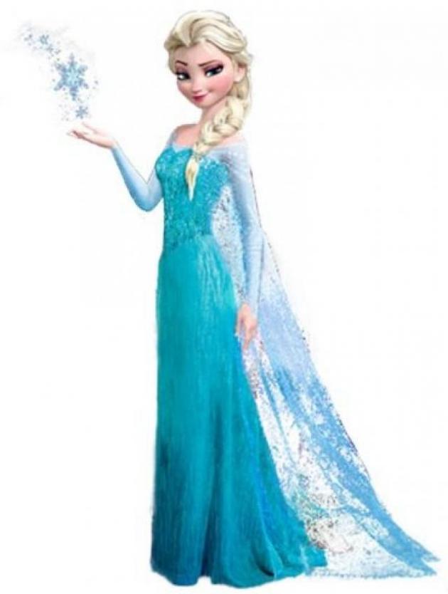 Elsa, gekleidet in Eis