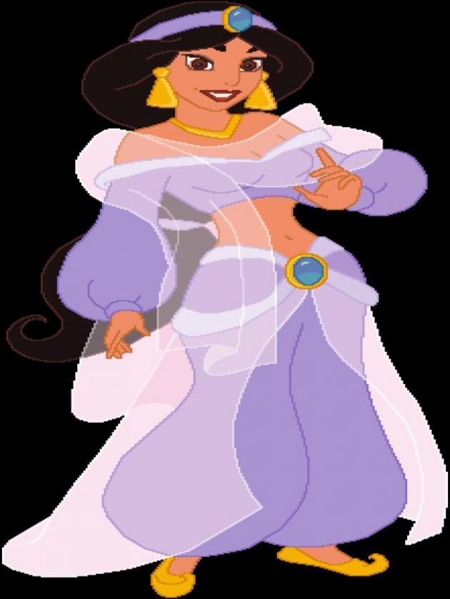 Jasmin im violetten Anzug (Eine ganz neue Welt)