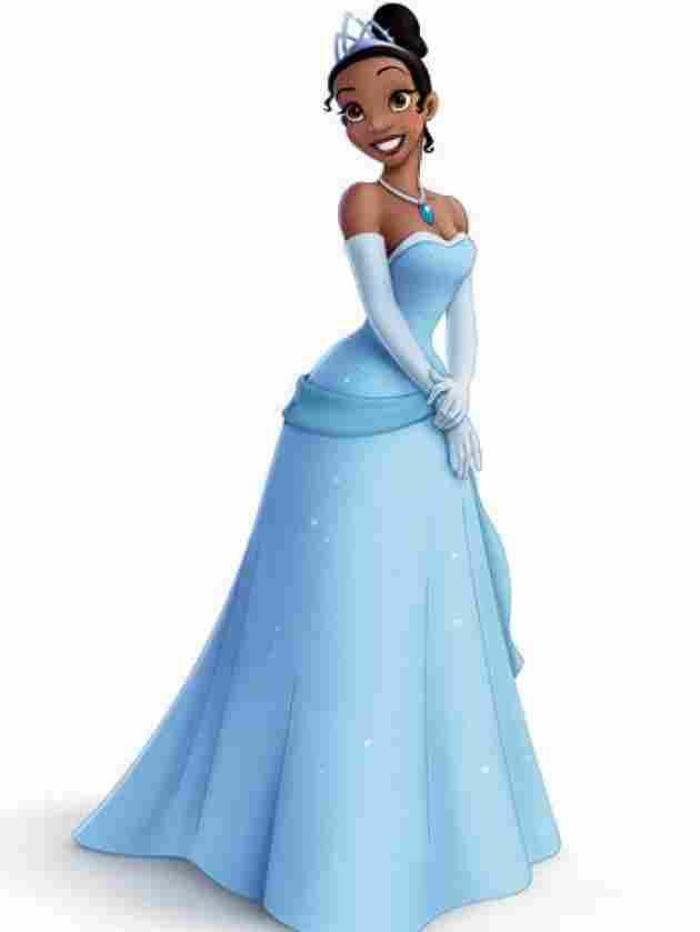Tiana mit Prinzessinnenkostüm
