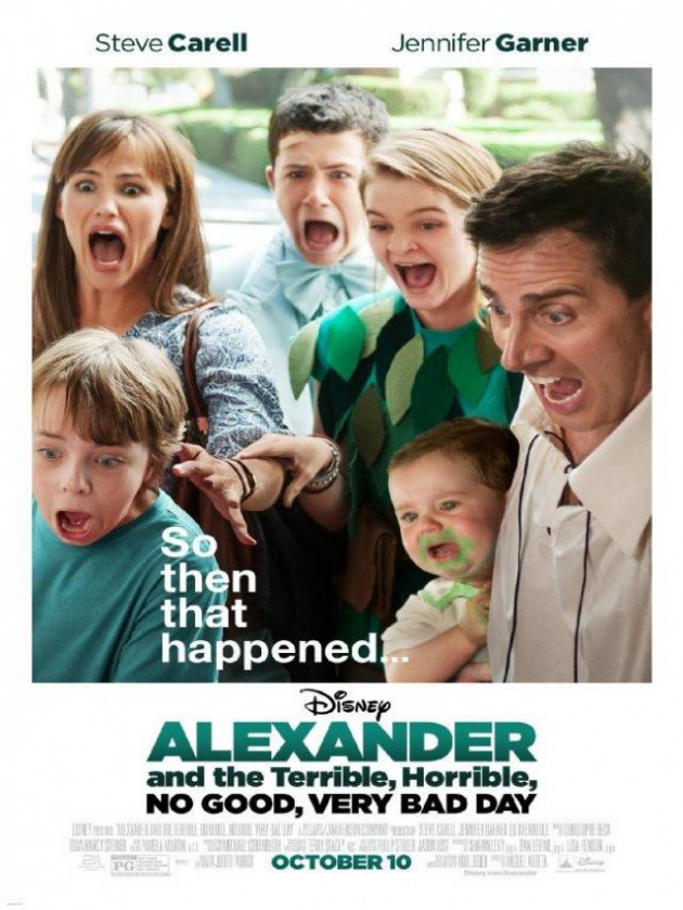 'Alexander and the terrible day, horrible, frightening, horrifying'
