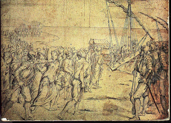"""""""The Expulsion of the Moriscos"""" by Velázquez and more than 500 paintings (Incendio Real Alcázar de Madrid 1734)"""