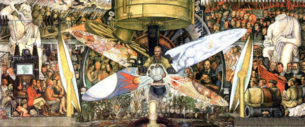 """Rockefeller sends to erase the fresco of Diego Rivera """"The man at the crossroads"""""""