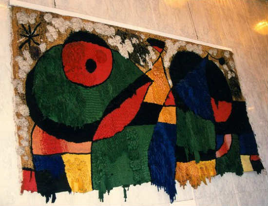 """The """"Great Tapestry"""" of Miró (it was destroyed along with the Twin Towers of New York)"""