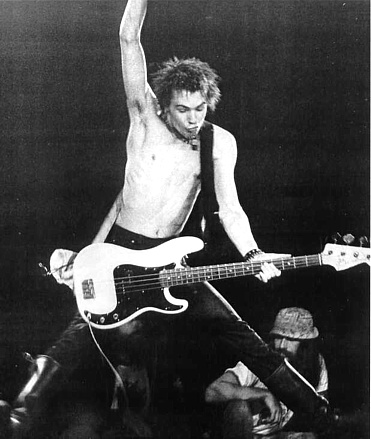Sid vicious - Bassist and singer of Sex pistols (some songs)