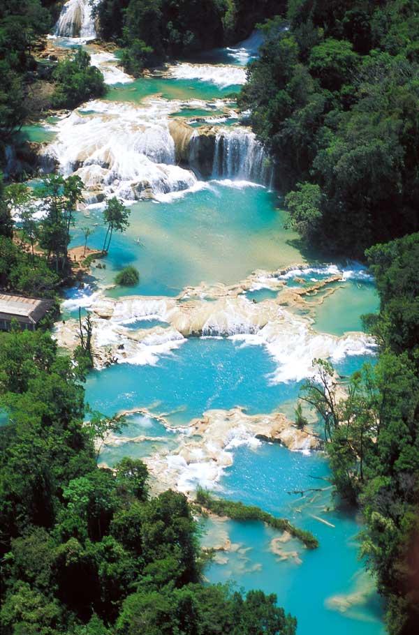 Чьяпас - Агуа Азул водопад.