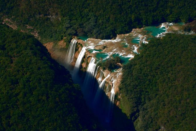 Сан Луис Потоси - Тамульский водопад.
