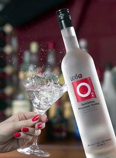 The sparkling vodka, O2