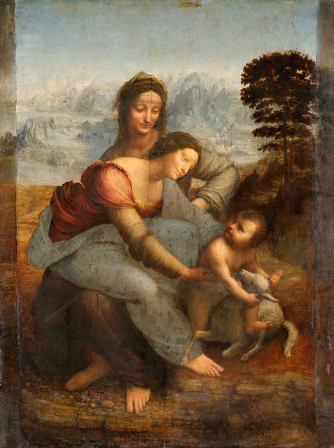 The virgin and the child with Santa Ana