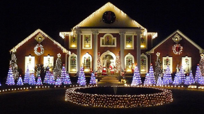 The best decorated houses for Christmas