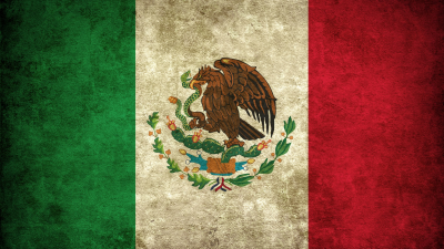 Die Flaggen der Bundesstaaten Mexiko