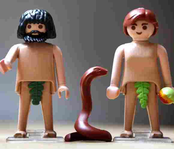 Adam and Eve, the first human beings in history according to the Bible
