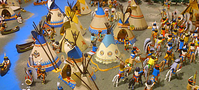 American Indians build their town in Cleveland (United States)