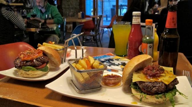 马德里最好的汉堡包
