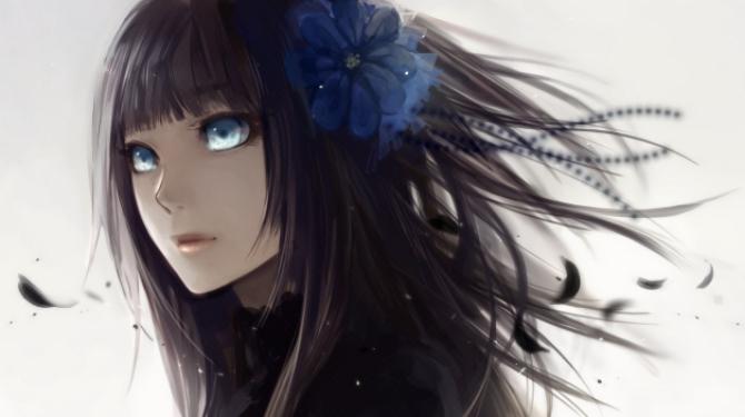 Black hair anime girls